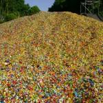 Reciclado tapitas plásticas para la Fundacion Garrahan