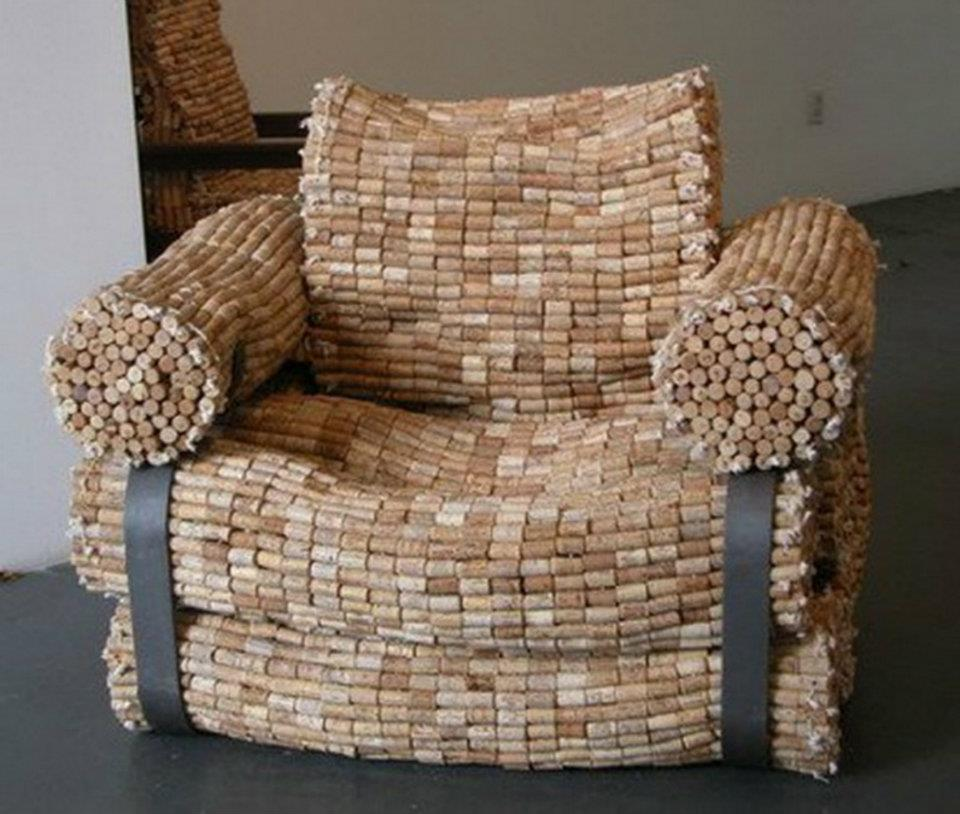 Chair Made From Wine Corks