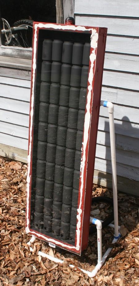 Como construir una estufa solar con latas de alumino