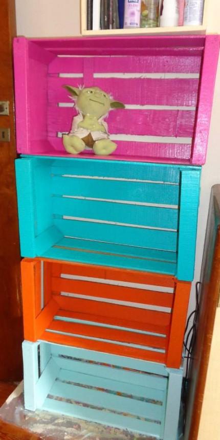 Con tus manos muebles reciclados con cajones de verduras for Cajones para muebles