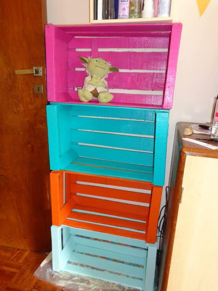 Con Tus Manos: Muebles reciclados con cajones de verduras
