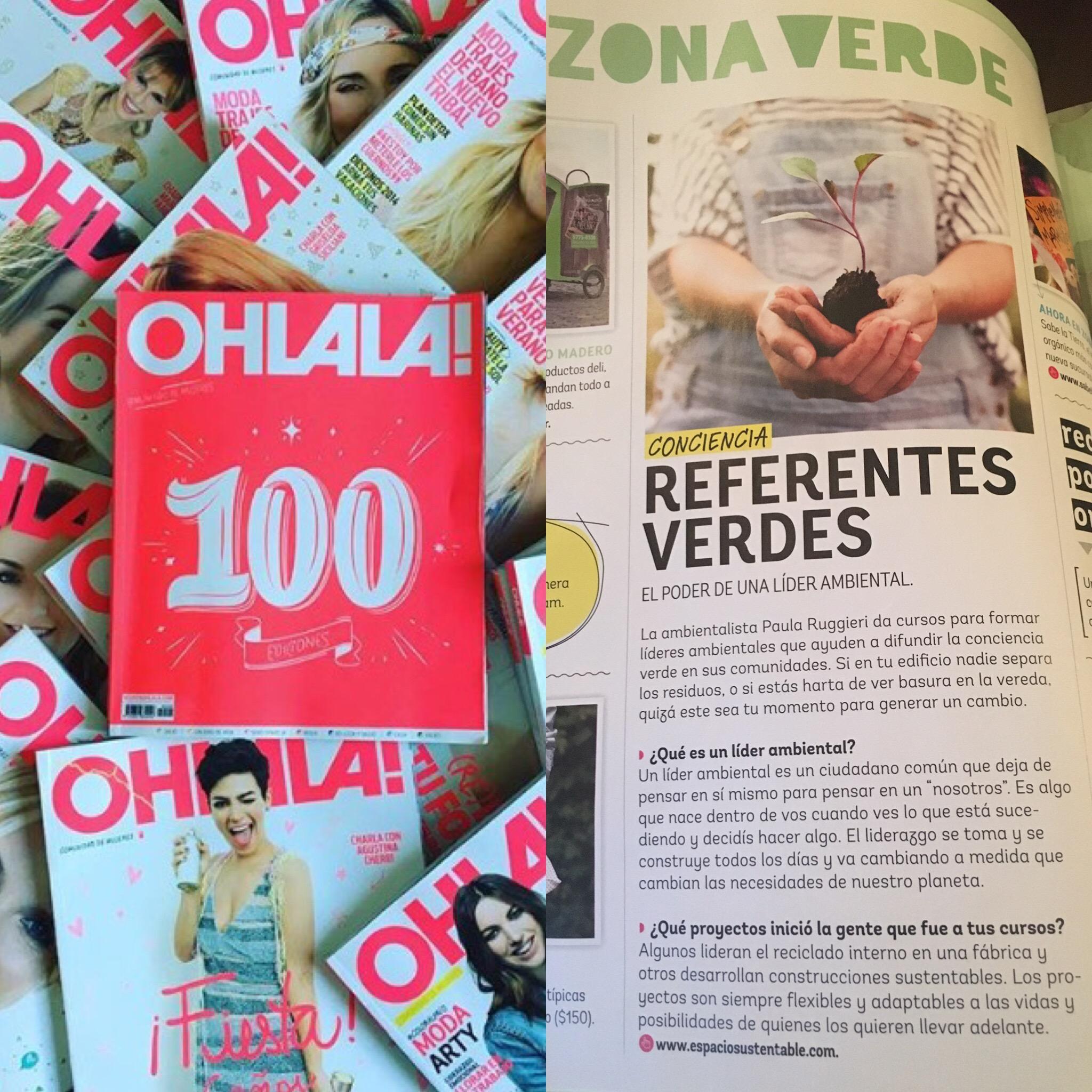 Lideres Ambientales en revista Susana