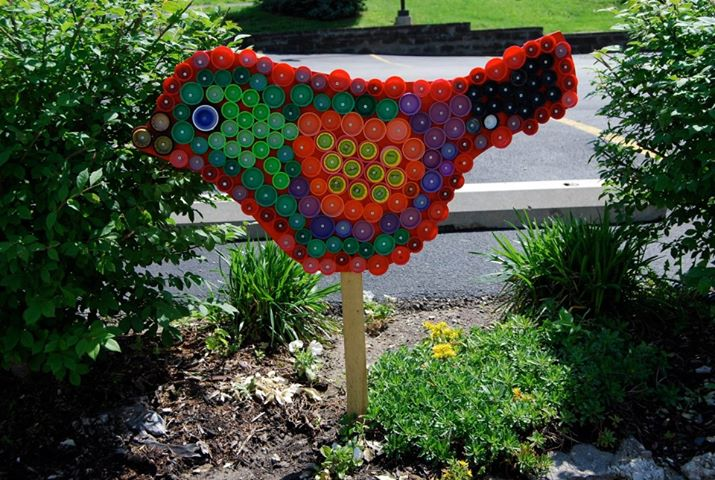 Recycled Plastic Bottle Yard Art