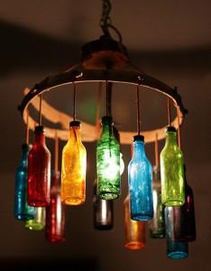 Lámpara-de-techo-con-botellas-de-vidrio-2