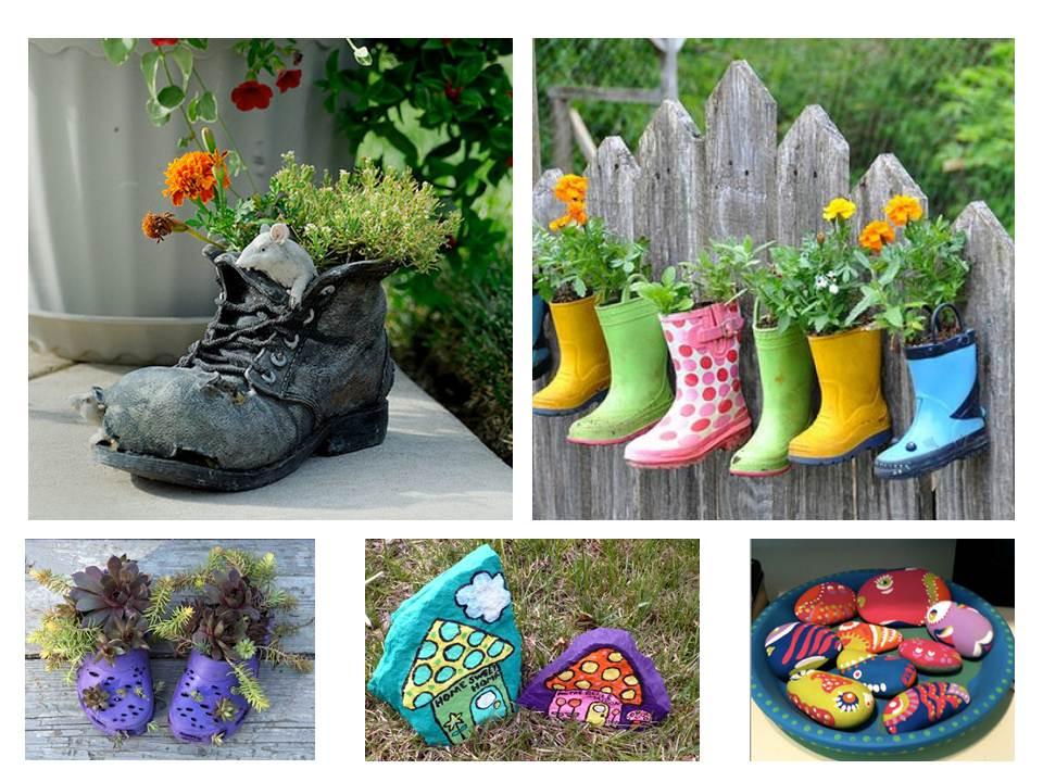 Adornos reciclados para el jardin espacio sustentable for Adornos jardin reciclados