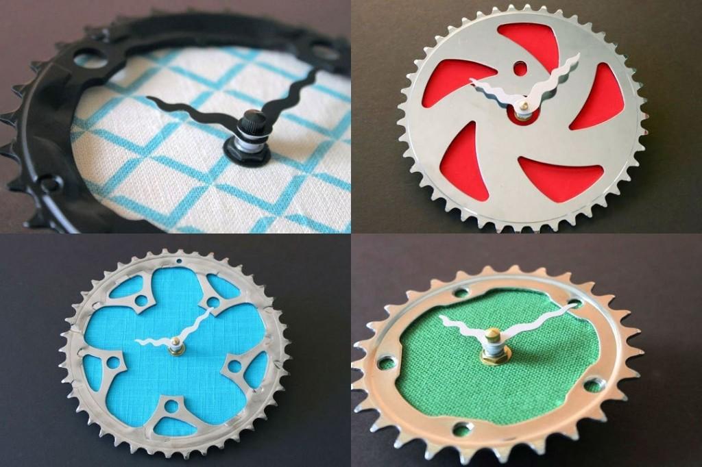 Bicicleta reciclaje y reutilizaci n espacio sustentable - Manualidades relojes de pared ...