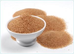 Azúcar morena refinada con colorantes