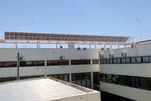 Paneles solares en la Universidad de La Plata