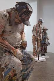 Esculturas de periodico