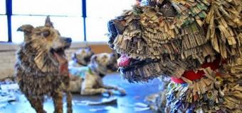 Esculturas de Diario Reciclado