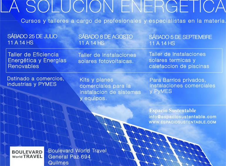 Ciclo de charklas de Energías Renovables