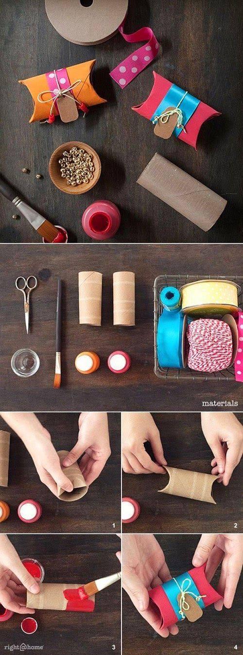¿ Como hacer un paquete con rollo de papel higiénico?