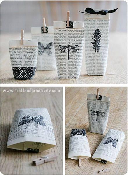 Regalos envueltos con papel reciclado