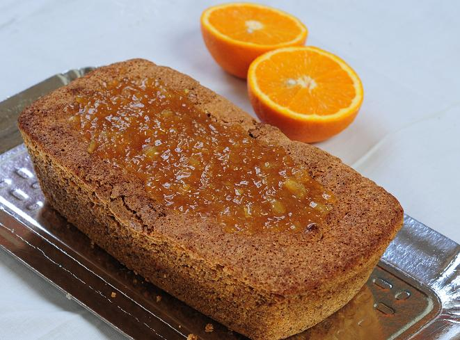 Budin Vegano de naranja y nuez