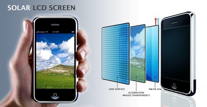 celulares con vidrio fotovoltico