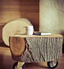 Mesas de troncos