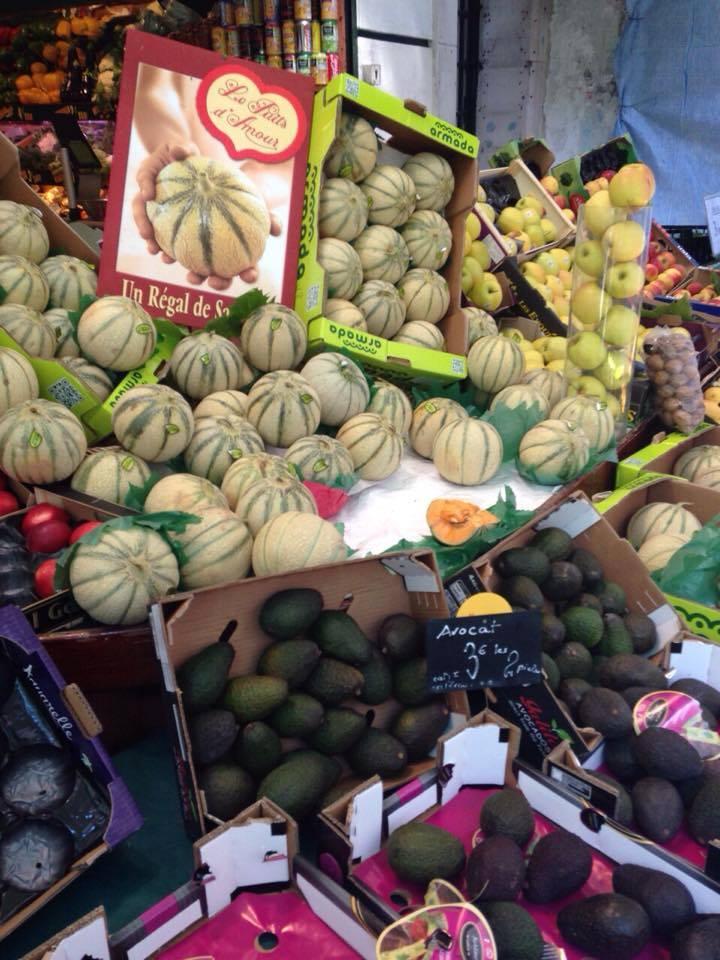 Frutas y Verduras en el mercado de Madrid
