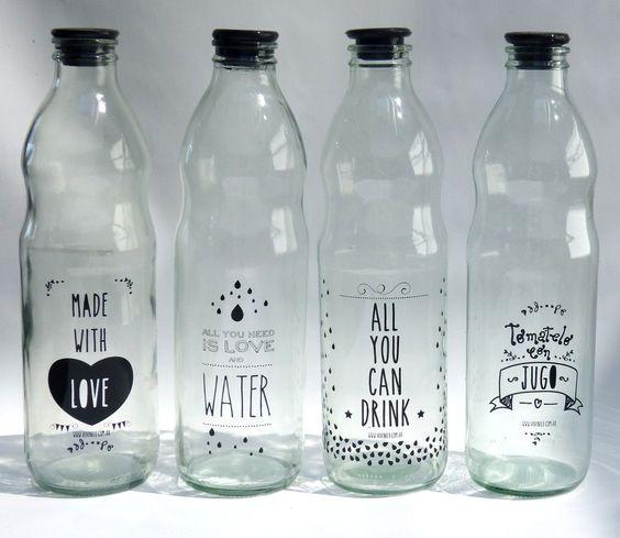 Reutilizar botellas de vidrio