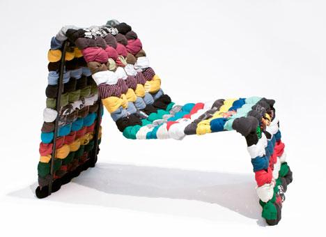 Con una estética moderna, este sillón fue diseñado con telas recicladas