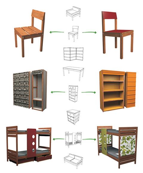 Uruguay muebles reciclados espacio sustentable for Pagina para hacer planos gratis