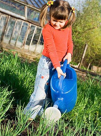 Huerta urbana para niños