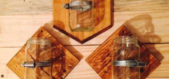 Floreros con Vidrio Reciclado